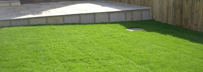 Lawn turf fitting